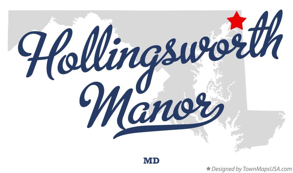 Map of Hollingsworth Manor Maryland MD