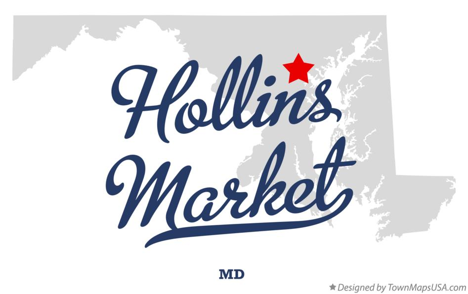 Map of Hollins Market Maryland MD