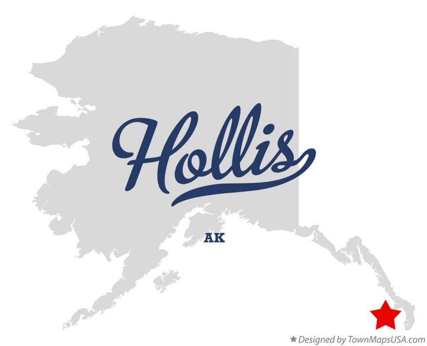 Map of Hollis Alaska AK