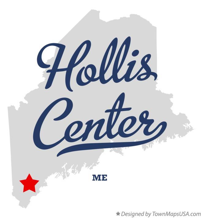 Map of Hollis Center Maine ME