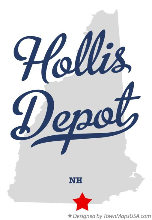 Map of Hollis Depot New Hampshire NH