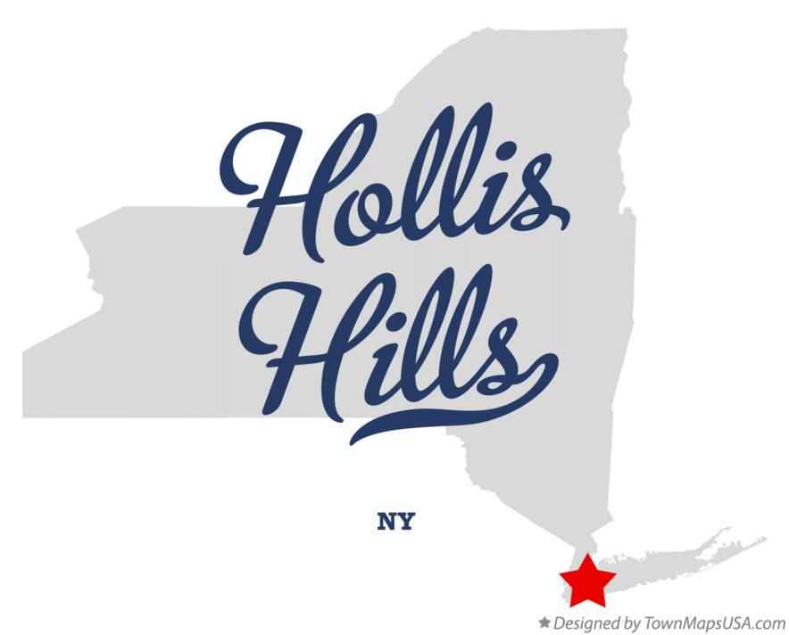 Map of Hollis Hills New York NY