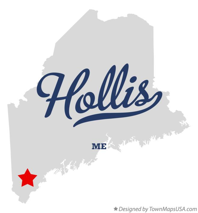 Map of Hollis Maine ME