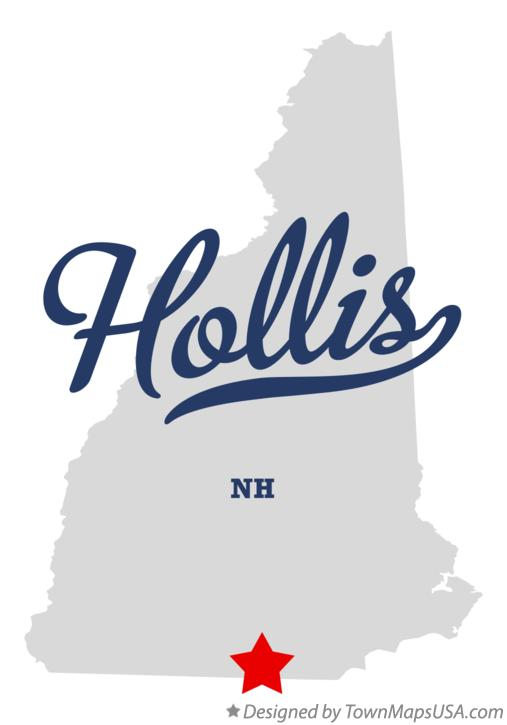 Map of Hollis New Hampshire NH