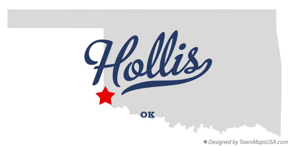 Map of Hollis Oklahoma OK