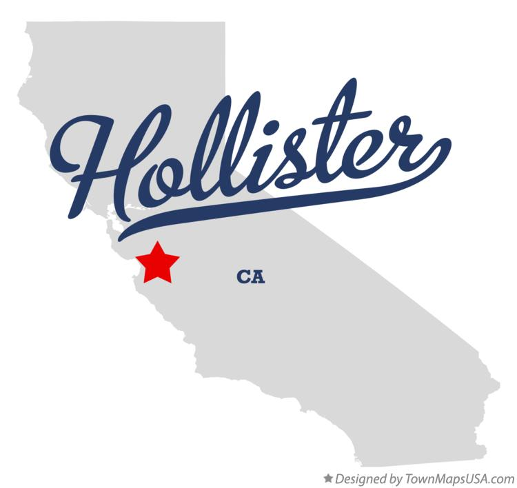 Map of Hollister California CA
