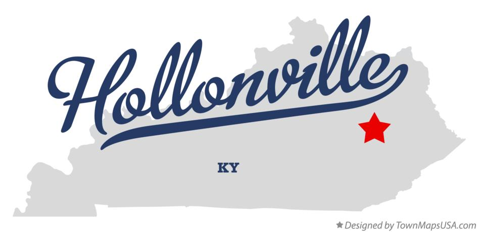 Map of Hollonville Kentucky KY