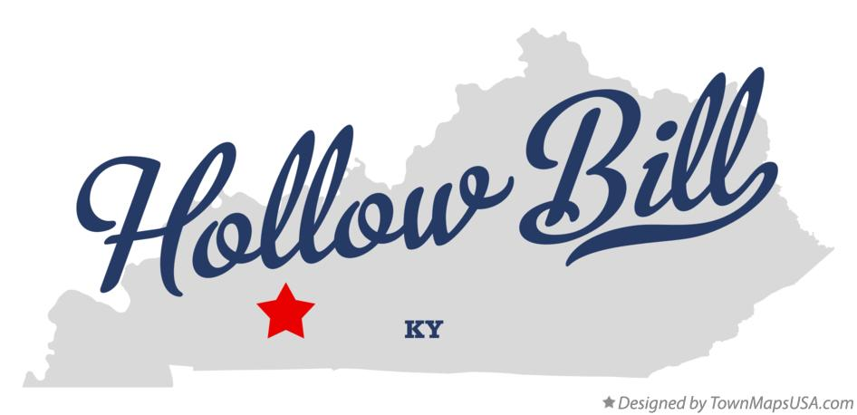 Map of Hollow Bill Kentucky KY