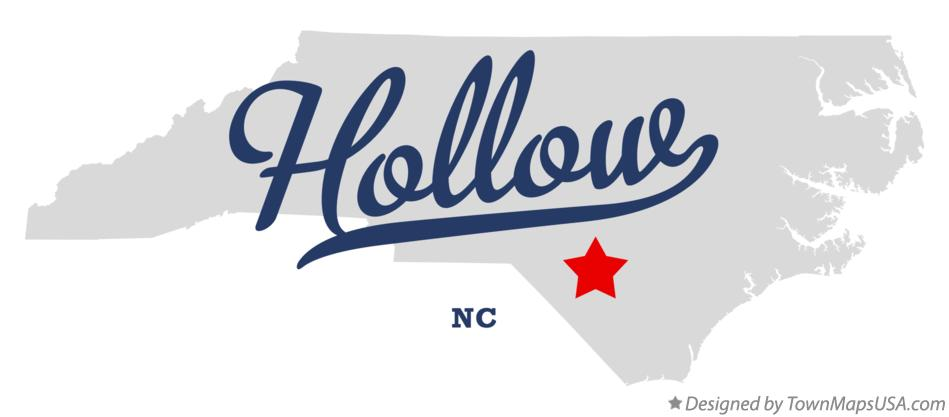 Map of Hollow North Carolina NC