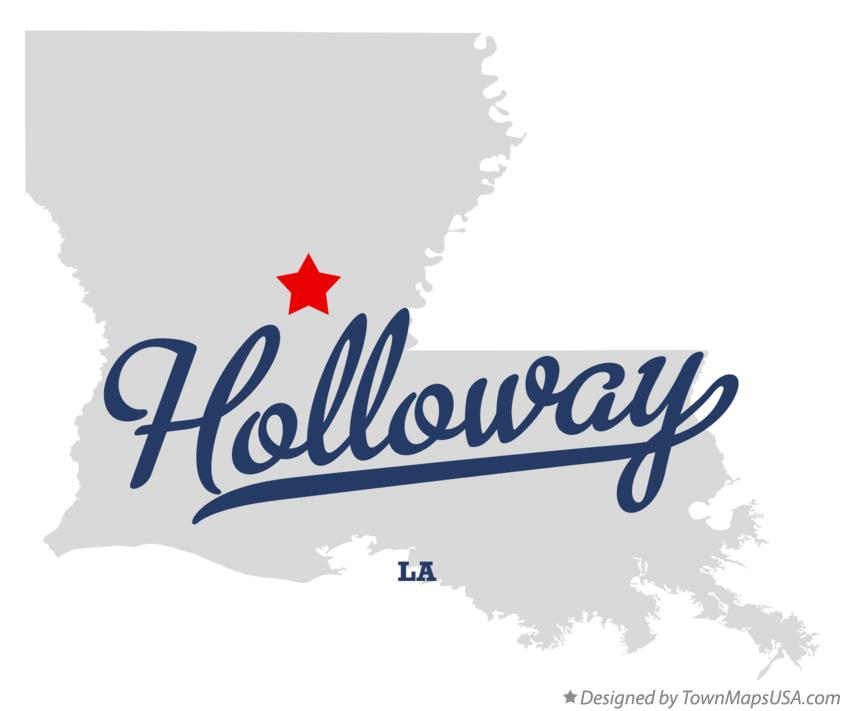 Map of Holloway Louisiana LA