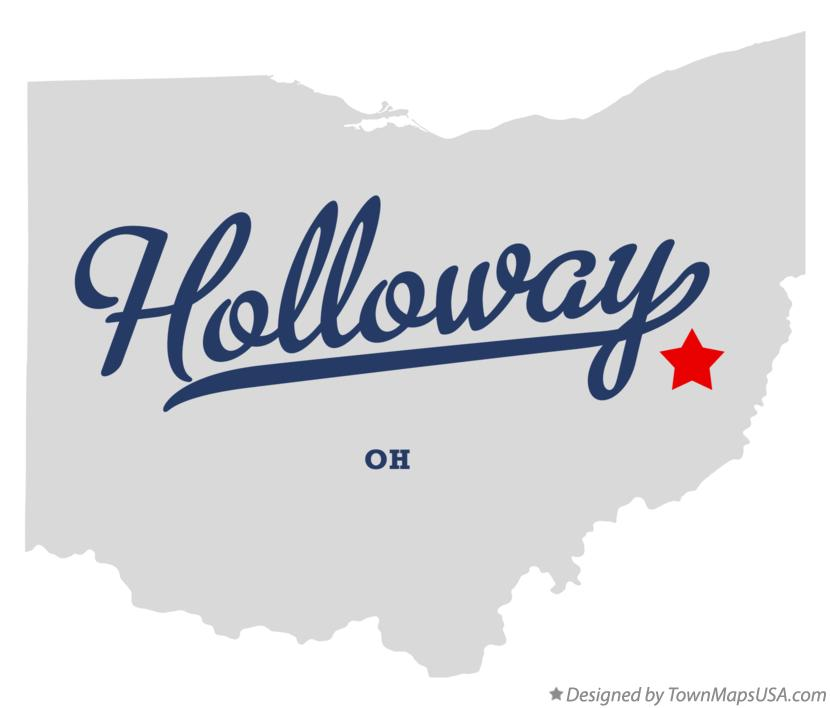 Map of Holloway Ohio OH