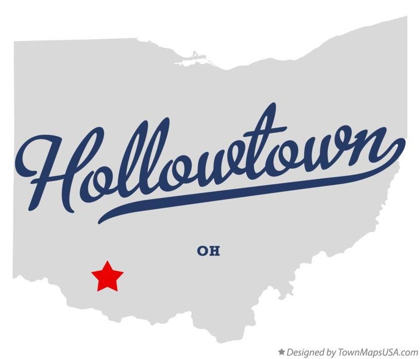 Map of Hollowtown Ohio OH