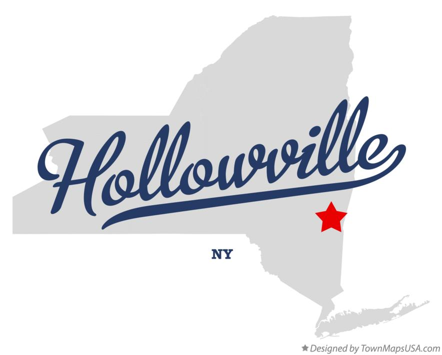 Map of Hollowville New York NY