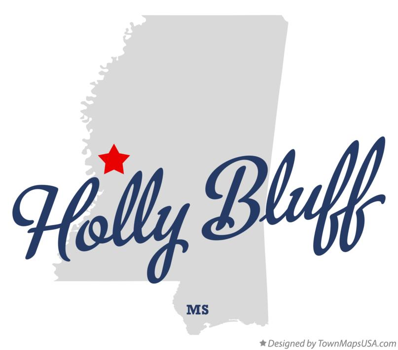 Map of Holly Bluff Mississippi MS