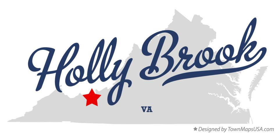 Map of Holly Brook Virginia VA