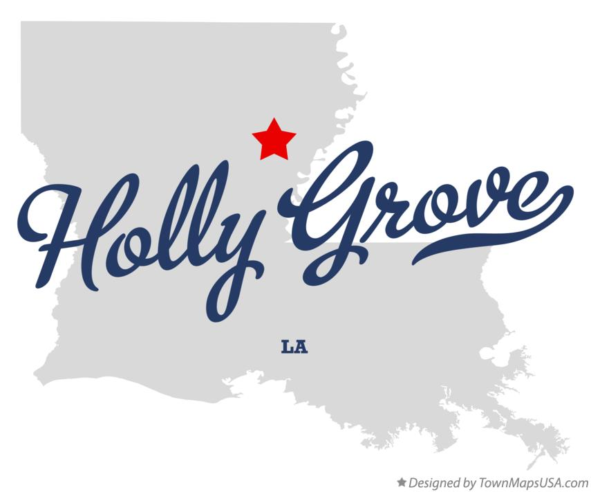 Map of Holly Grove Louisiana LA