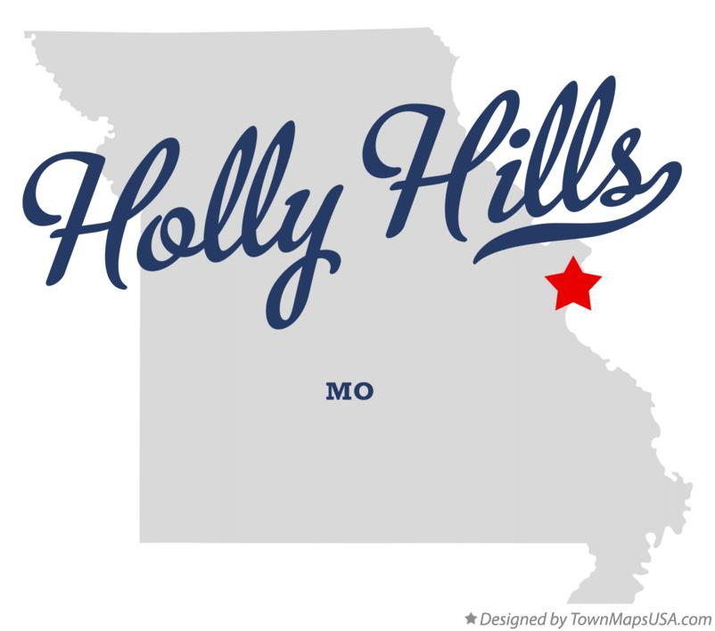 Map of Holly Hills Missouri MO