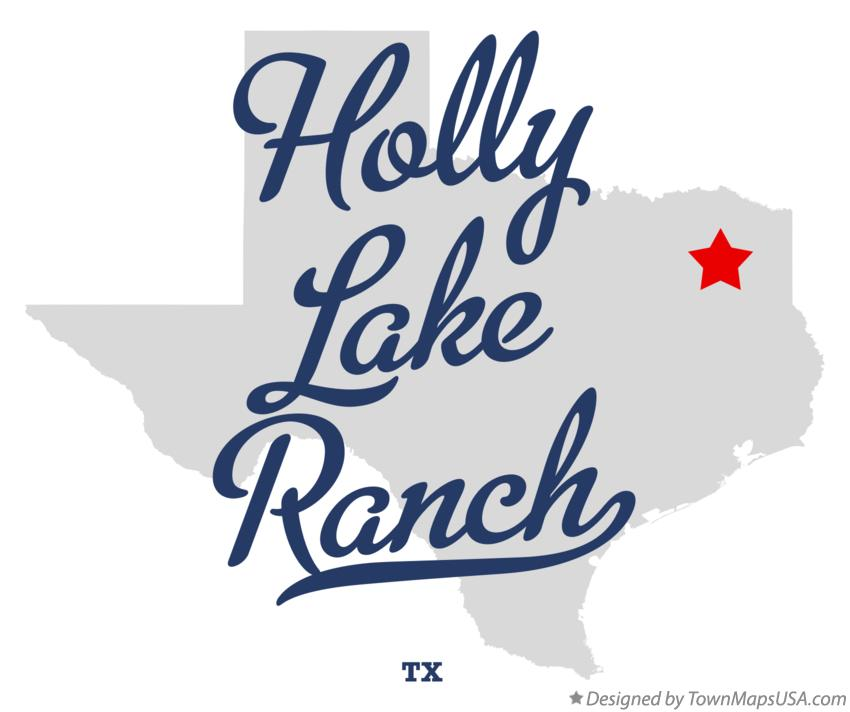 Map of Holly Lake Ranch Texas TX