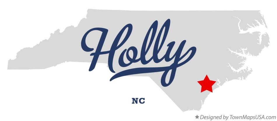 Map of Holly North Carolina NC