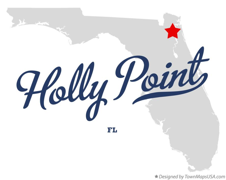 Map of Holly Point Florida FL
