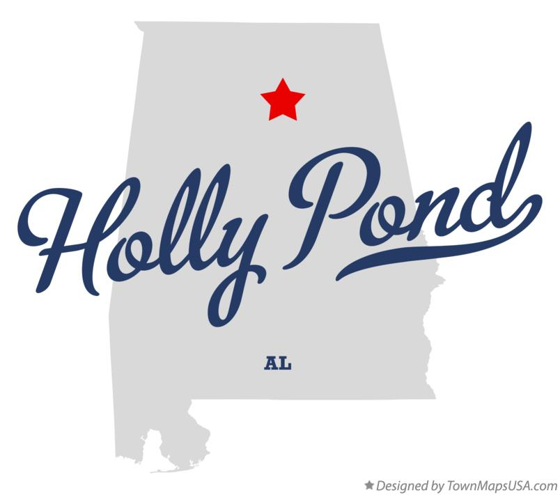 Map of Holly Pond Alabama AL