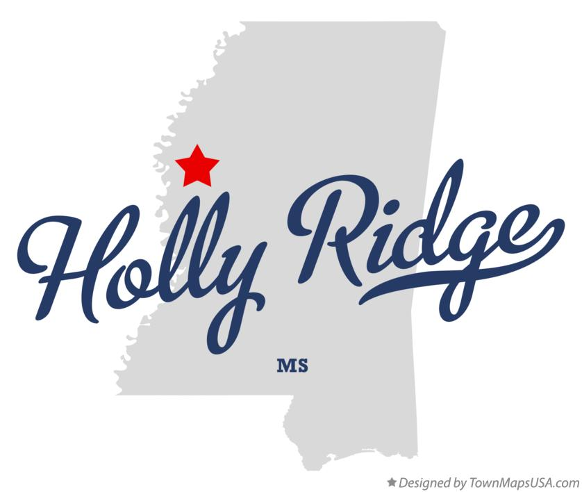 Map of Holly Ridge Mississippi MS