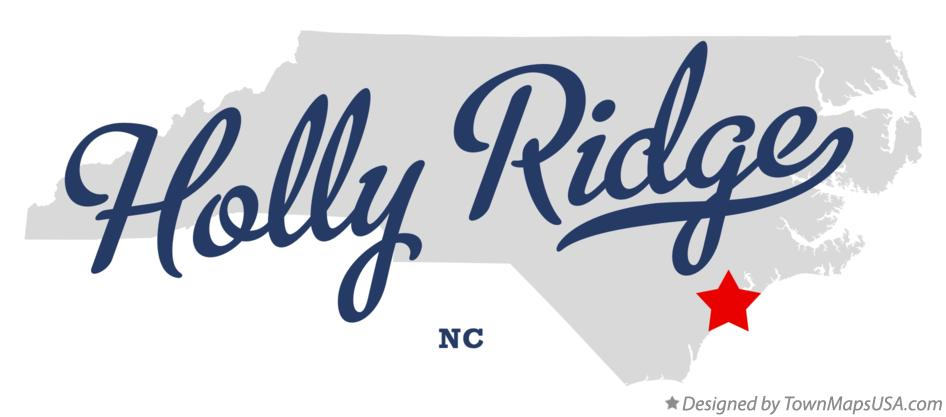 Map of Holly Ridge North Carolina NC
