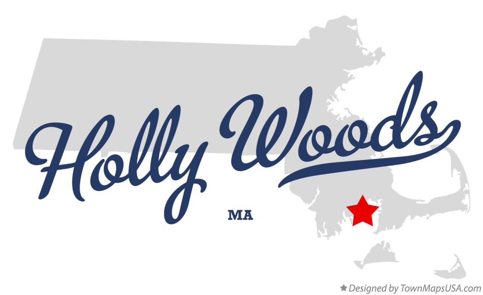 Map of Holly Woods Massachusetts MA