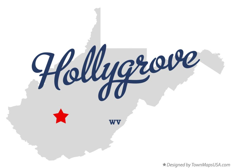 Map of Hollygrove West Virginia WV