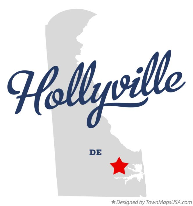Map of Hollyville Delaware DE