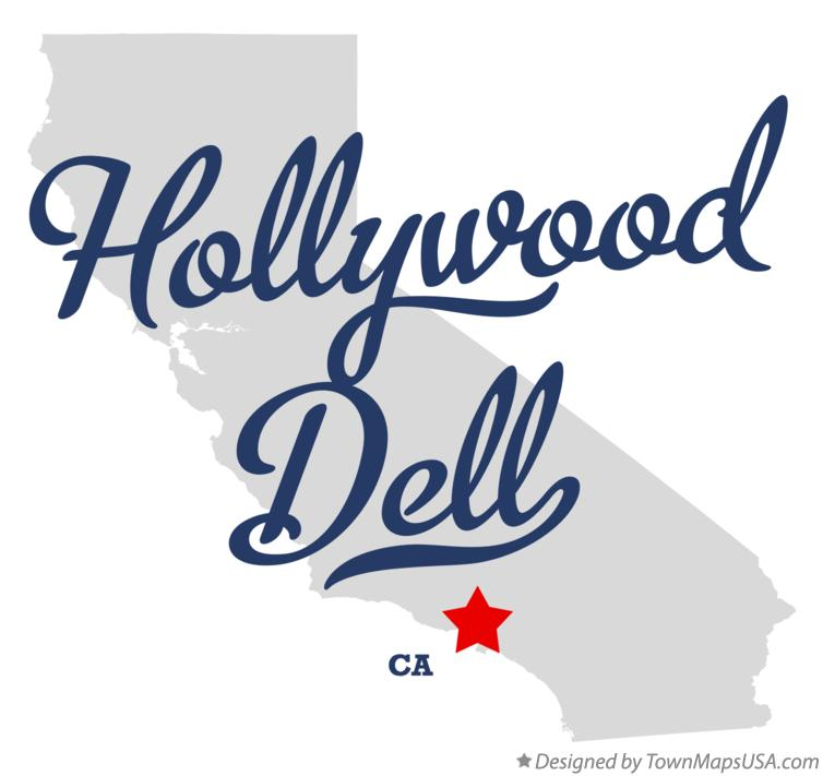 Map of Hollywood Dell California CA