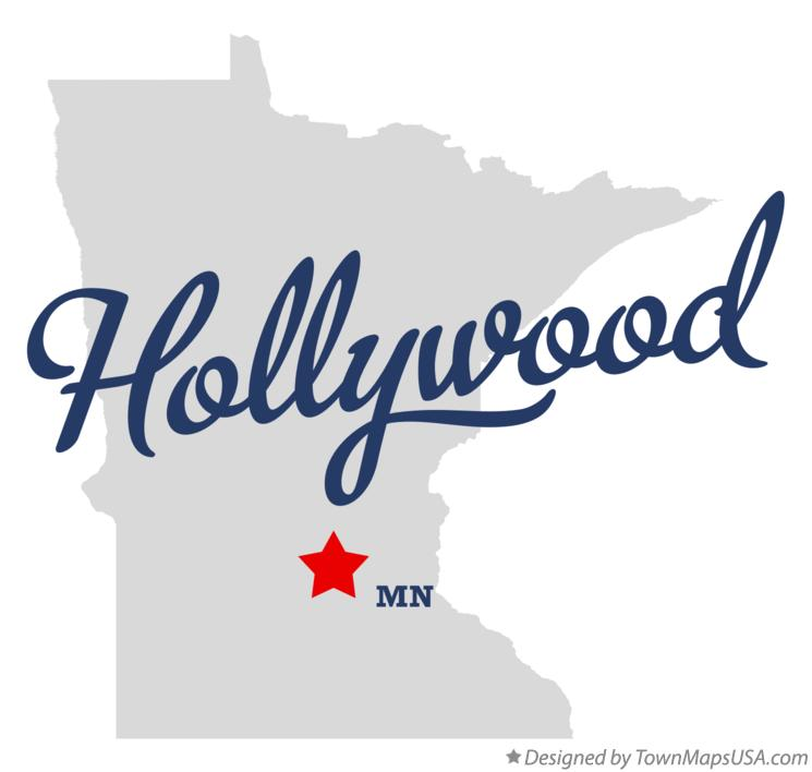 Map of Hollywood Minnesota MN