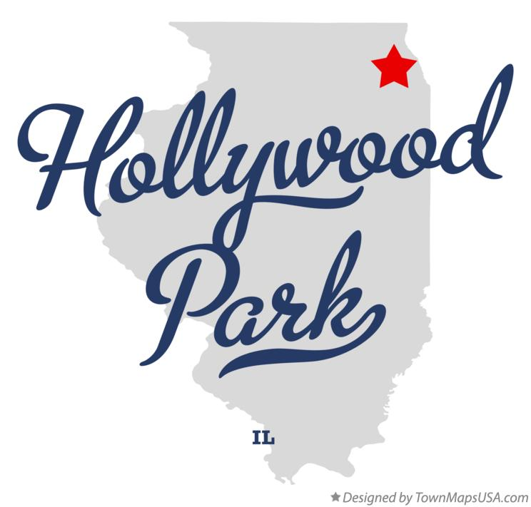 Map of Hollywood Park Illinois IL