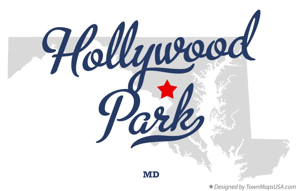 Map of Hollywood Park Maryland MD
