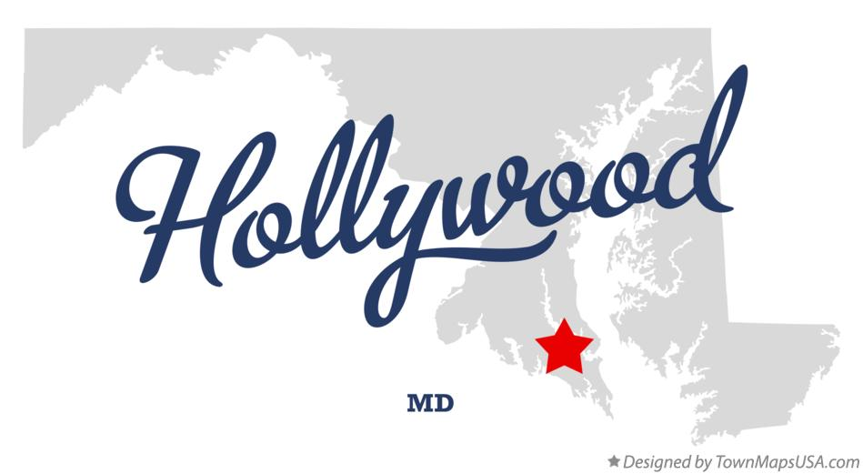 Map of Hollywood Maryland MD