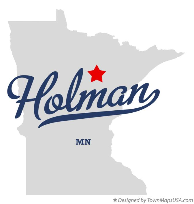 Map of Holman Minnesota MN