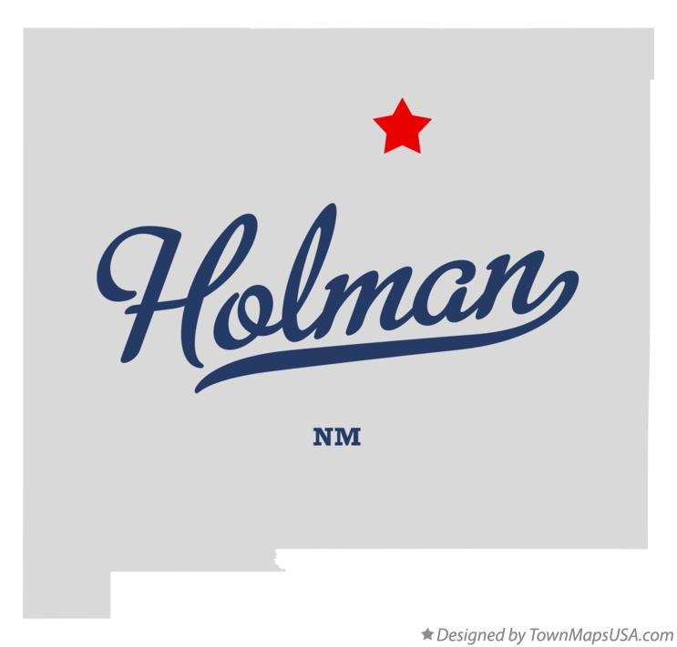 Map of Holman New Mexico NM