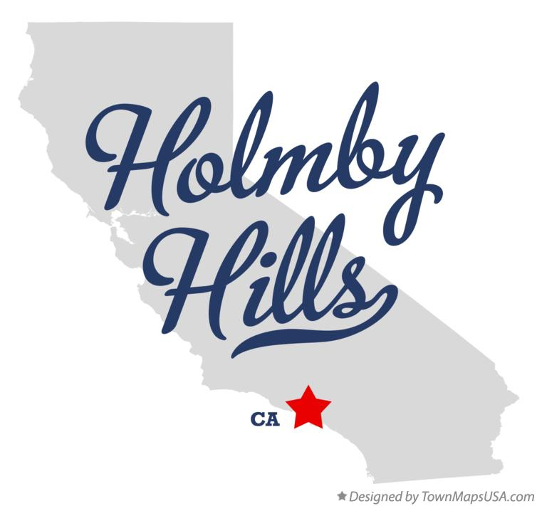 Map of Holmby Hills California CA