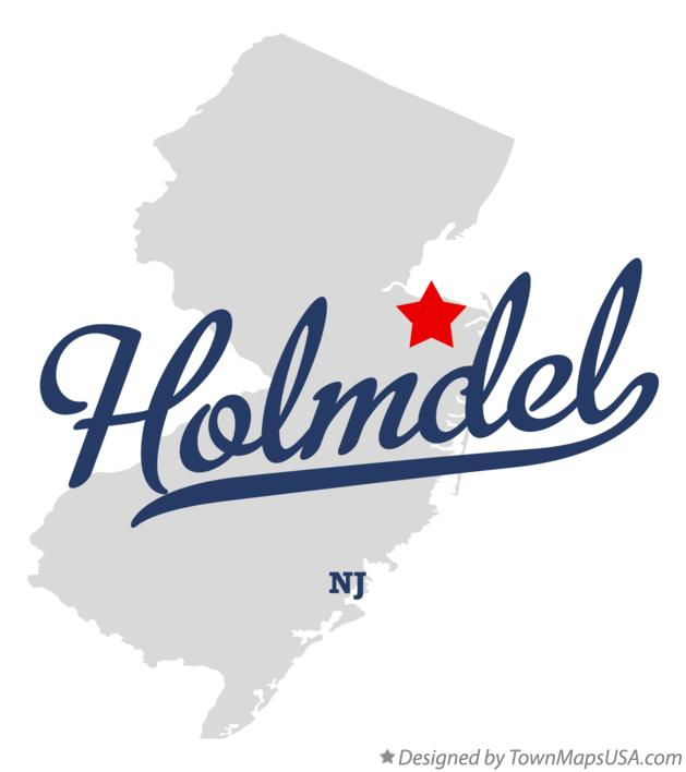 Map of Holmdel New Jersey NJ