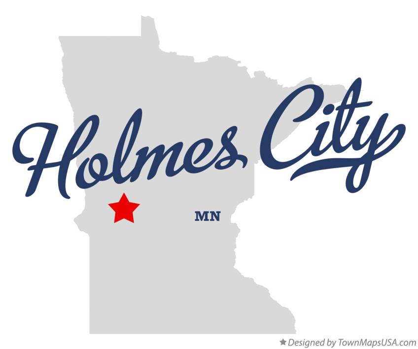 Map of Holmes City Minnesota MN