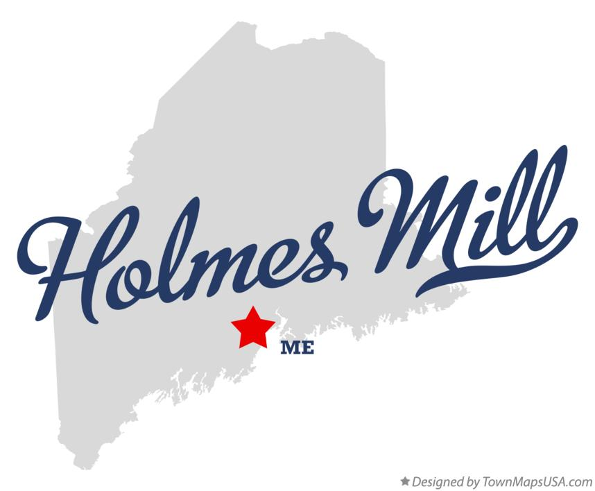 Map of Holmes Mill Maine ME