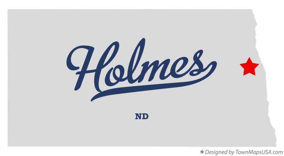 Map of Holmes North Dakota ND