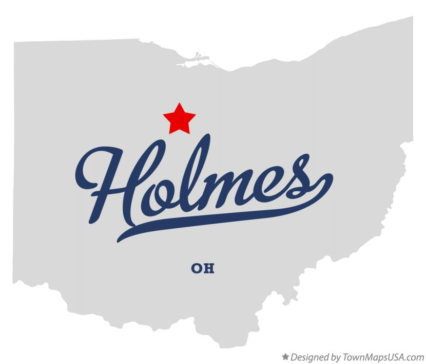 Map of Holmes Ohio OH