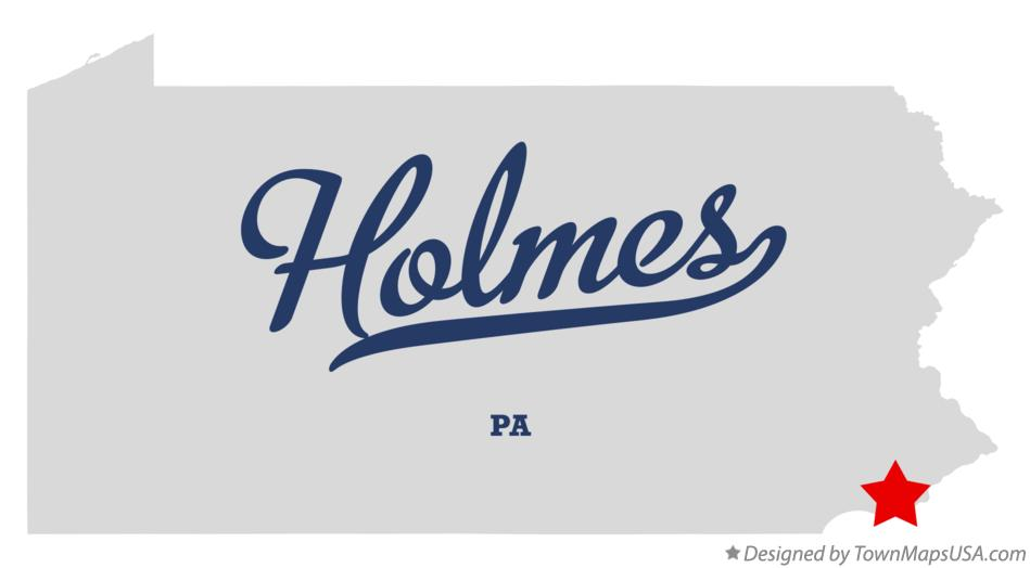 Map of Holmes Pennsylvania PA