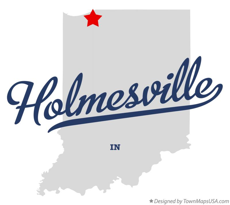 Map of Holmesville Indiana IN