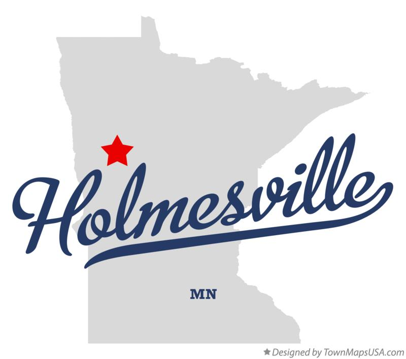 Map of Holmesville Minnesota MN
