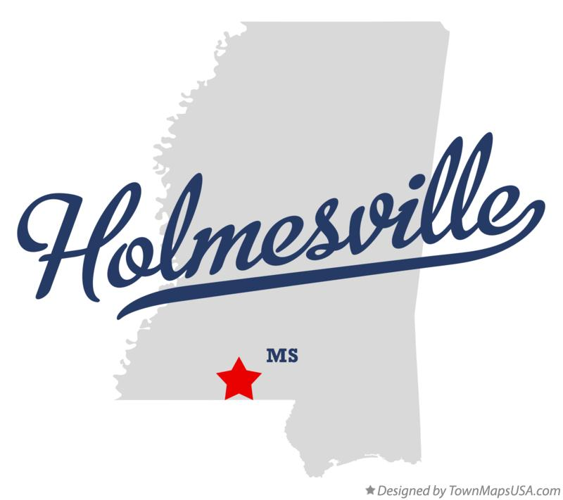 Map of Holmesville Mississippi MS