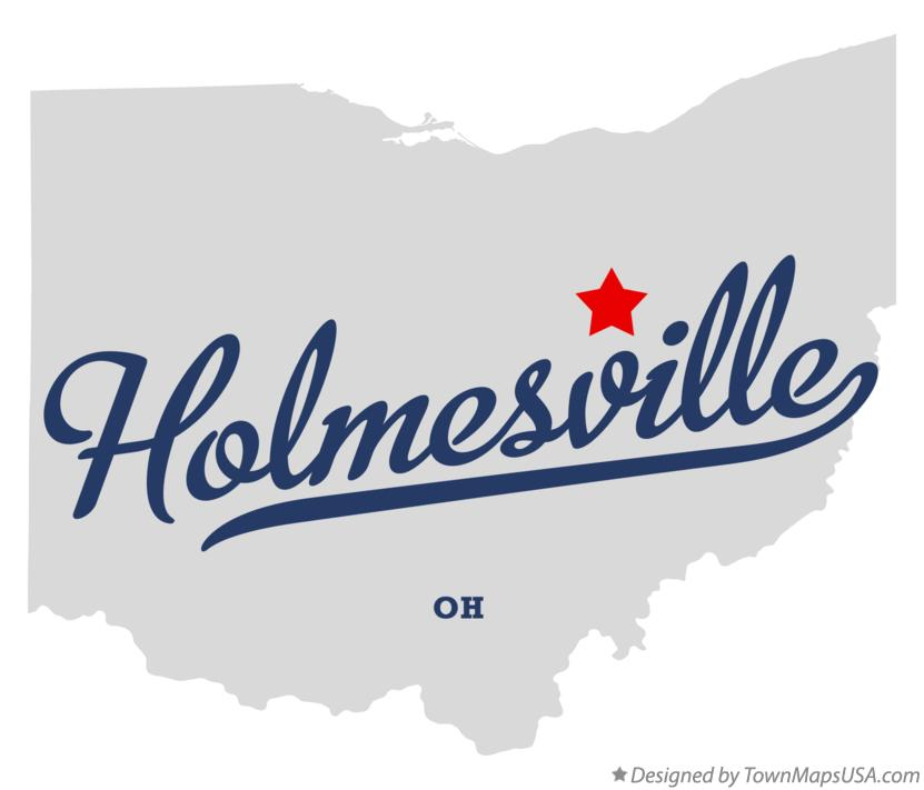 Map of Holmesville Ohio OH