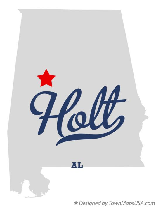 Map of Holt Alabama AL