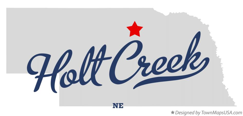Map of Holt Creek Nebraska NE